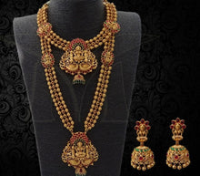 Load image into Gallery viewer, Bridal Set-Long Haaram, Necklace and Earrings Buy Online