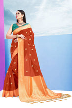Load image into Gallery viewer, Linen Pattu Sarees Buy Online