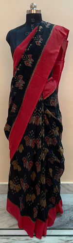 Butterfly Design Ikat Hand-Loom Saree