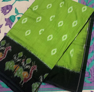 Peacock Design Ikat Hand-Loom Saree Buy Online