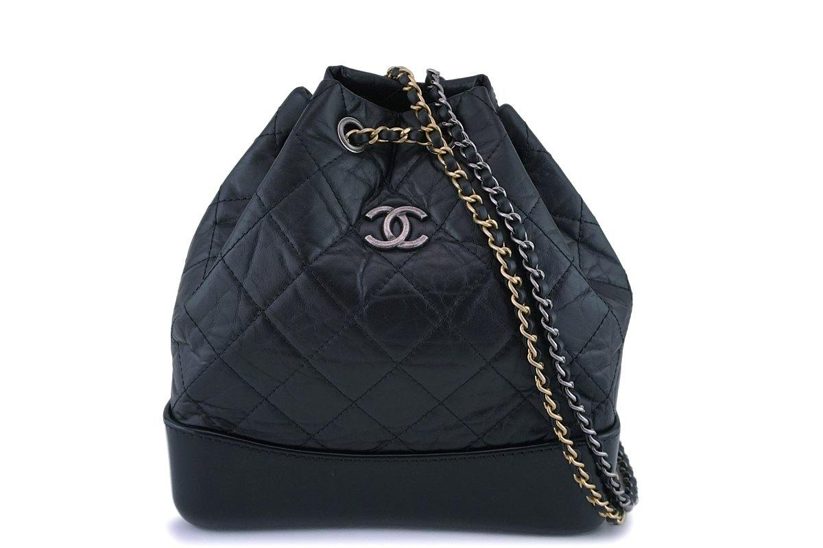 Pristine Chanel Black Small Gabrielle Backpack Bag