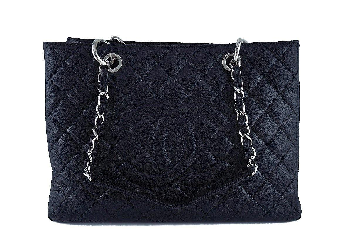 Chanel Black Caviar Classic Grand Shopper Tote GST Shopping Bag, SHW