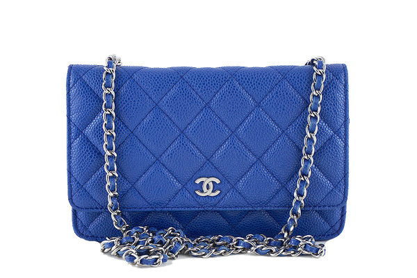 Chanel Caviar Classic WOC Wallet on Chain in Royal Blue Flap Bag