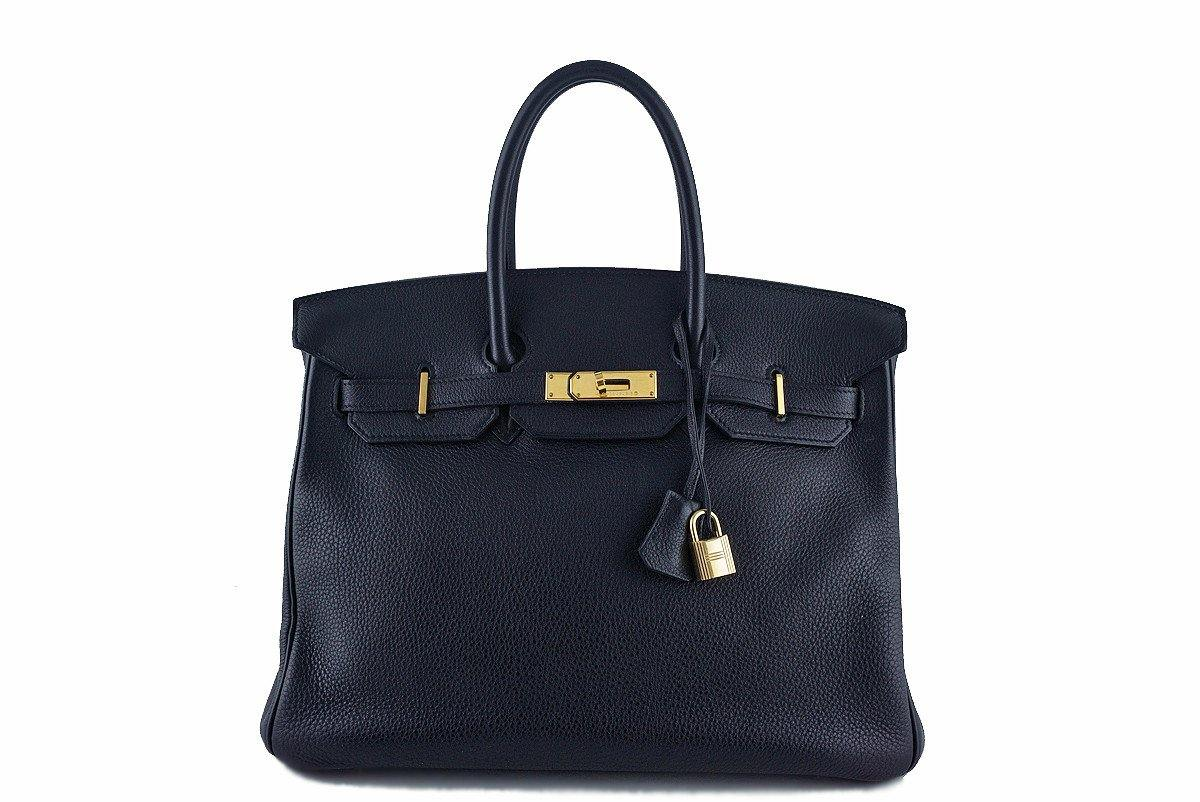 Hermes Black Clemence 35cm Birkin Bag GHW - Boutique Patina  - 1