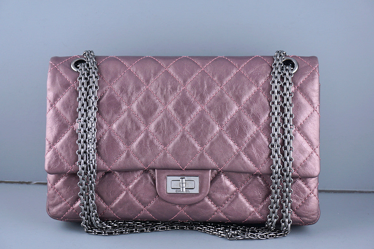 Chanel Metallic Rose Pink 226 Classic Reissue 2.55 Flap Bag