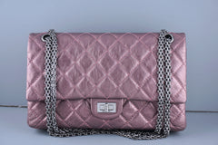 Chanel Metallic Rose Pink 226 Classic Reissue 2.55 Flap Bag - Boutique Patina  - 1
