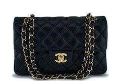 Chanel Black Lambskin Small Classic Double Flap Bag GHW