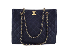 Chanel Black Caviar Classic Quilted Shopper Tote Bag - Boutique Patina  - 1