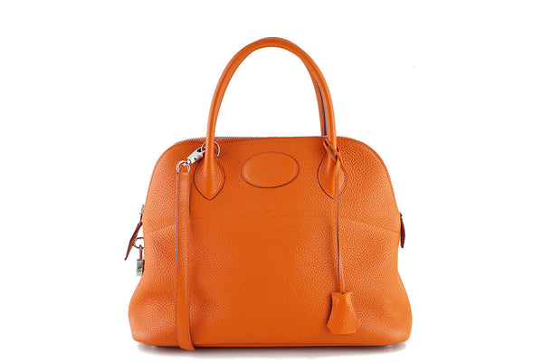 "Hermes Orange 31cm Bolide Shoulder Tote Bag, ""P"" stamp PHW"