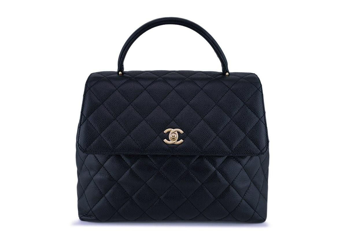 Chanel Black 2.55 Classic Quilted Kelly Flap Bag