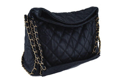 Chanel Black Quilted Ultimate Soft Chain Around Hobo Tote Bag