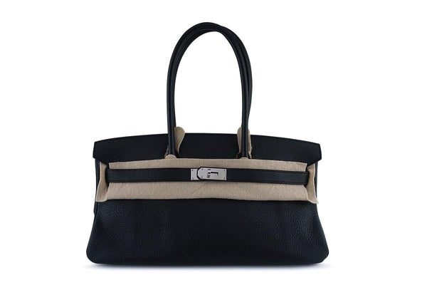 Hermes Black 42cm Clemence Shoulder Birkin JPG 2 Bag PHW