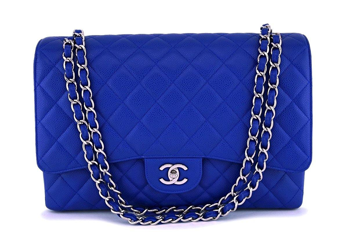 b31d4a680fb9 Chanel Blue Caviar Maxi