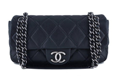 Chanel Black 10in. Soft Caviar Medium Quilted Classic Flap Bag - Boutique Patina  - 1