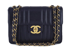 Chanel Black Vintage Caviar Mademoiselle Classic Jumbo Flap Bag - Boutique Patina  - 1
