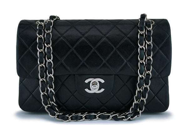 Chanel Black Lambskin Small Classic Double Flap Bag SHW