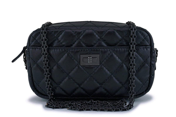 Chanel So Black Mini Reissue 2.55 Camera Case Crossbody Bag