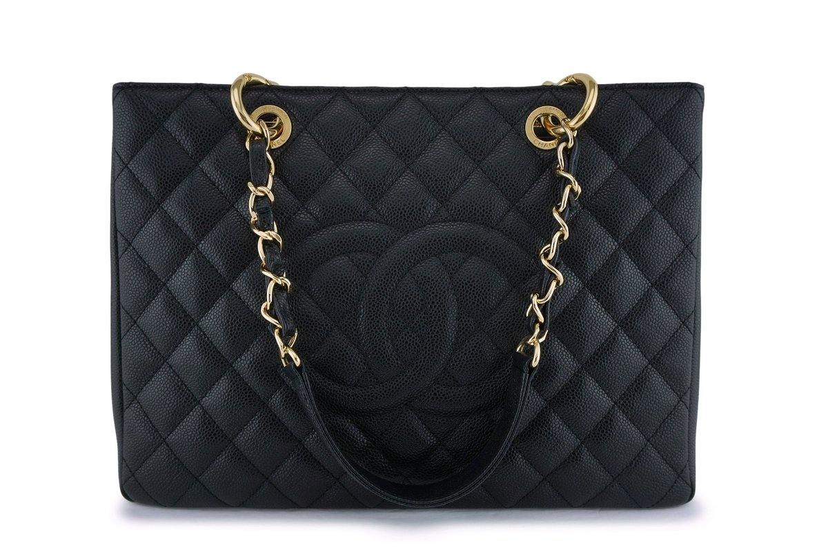 Chanel Black Caviar Grand Shopper Tote GST Bag GHW - Boutique Patina