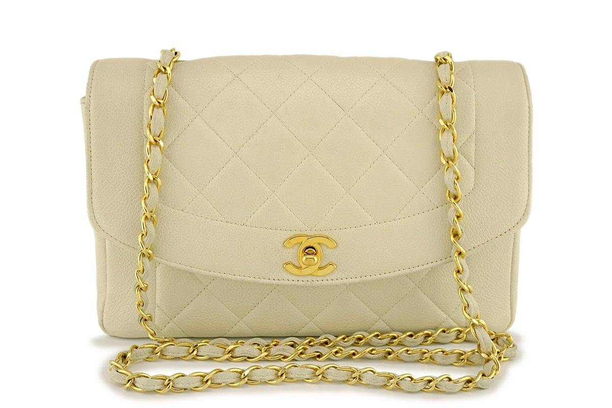 bd1bb888a9dd Chanel Vintage Light Beige Caviar Quilted Classic