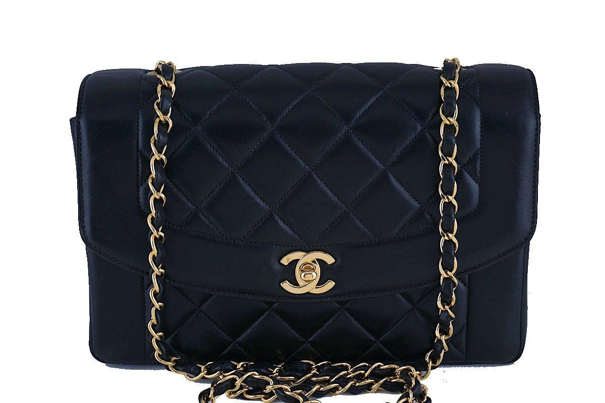4e12c52c74f827 Chanel Black Rare Vintage Quilted Classic Pocket