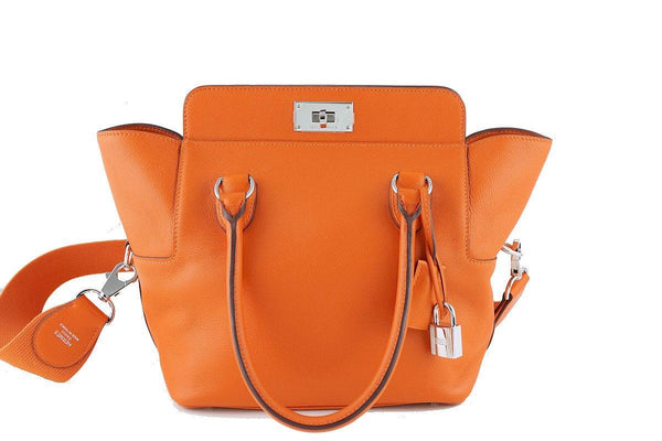 Hermes Toolbox, 20cm Orange Swift Shoulder Bag