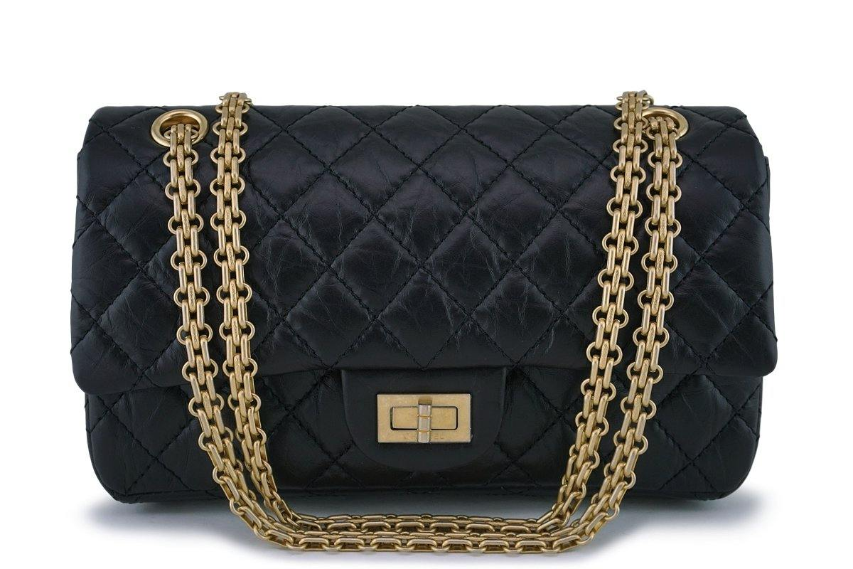 655cbad3398f NIB Chanel Black 2.55 Small Classic Reissue 225 Double Flap Bag ...