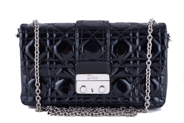 Miss Dior Black New Lock Promenade Pochette Wallet on Chain WOC Bag