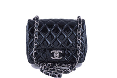 Chanel Mini Flap, Black Patent Square Classic 2.55 Bag