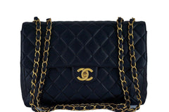 Chanel Black Lambskin Jumbo Quilted Classic 2.55 Flap Bag - Boutique Patina  - 1