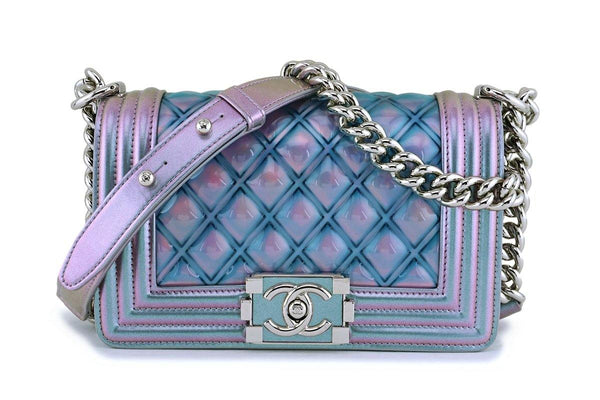 Chanel Iridescent Purple Mermaid Small Water Boy Flap Bag