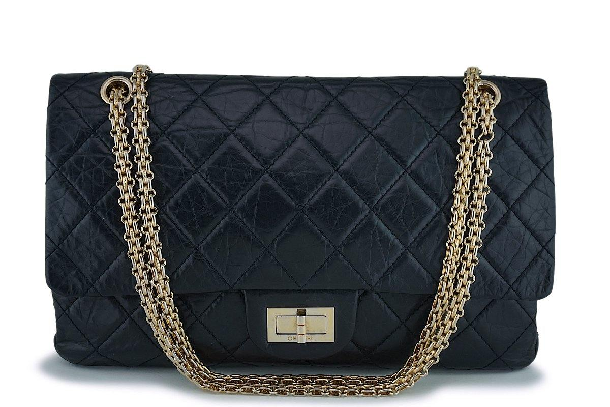 987d9232535f Chanel Black Large 227 Jumbo Reissue 2.55 Classic Double Flap ...