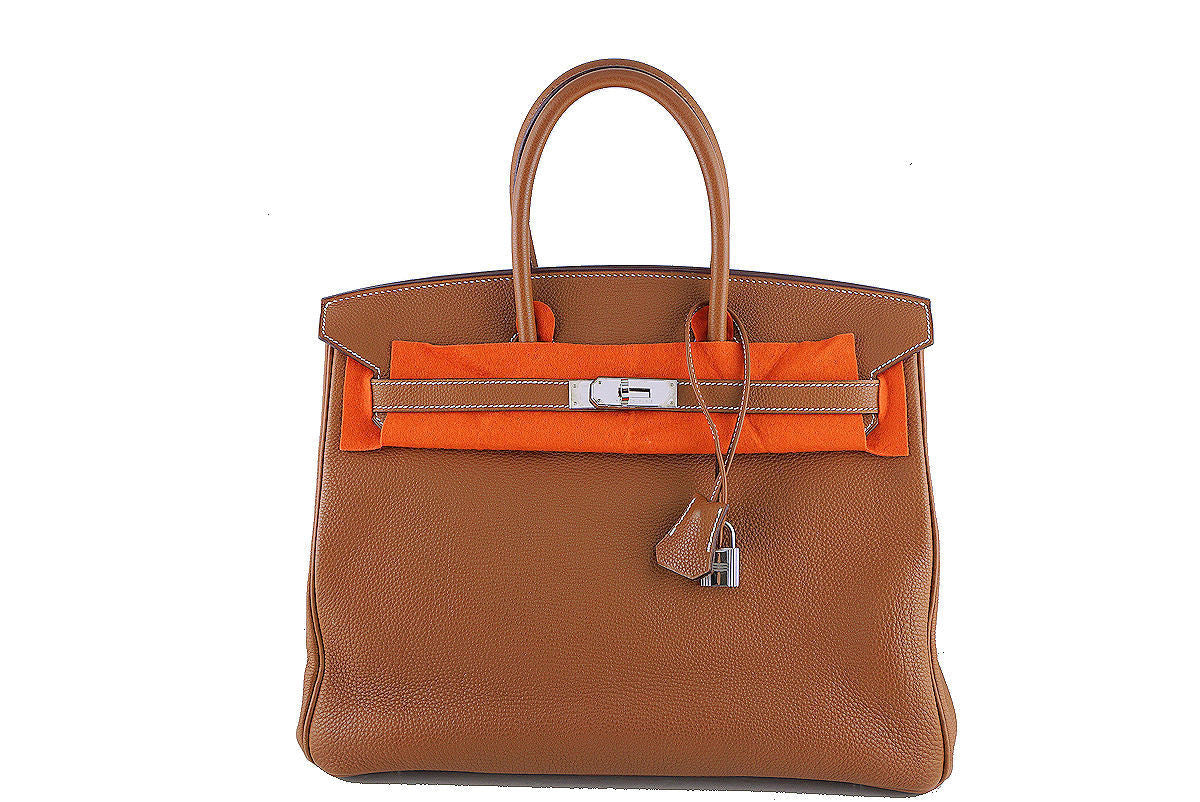 Hermes 35cm Birkin Bag in Gold Togo, PHW