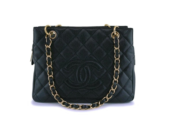 Chanel Black Caviar Petite Timeless Tote PTT Bag GHW
