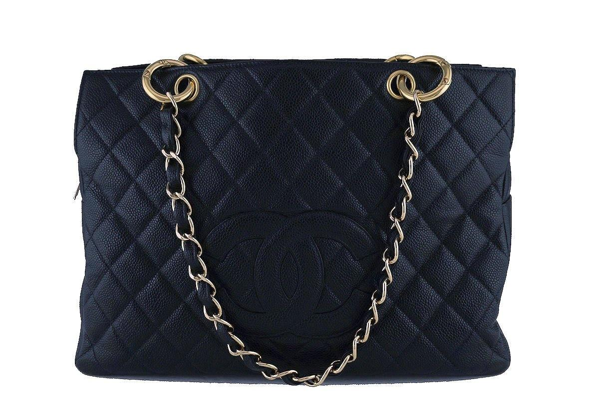 Chanel GST Vintage Caviar Grand Shopper Tote Bag