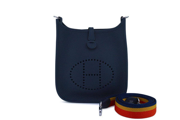 NWT Hermes Navy Blue Bleu Nuit Mini Evelyne 16 TPM Messenger Bag