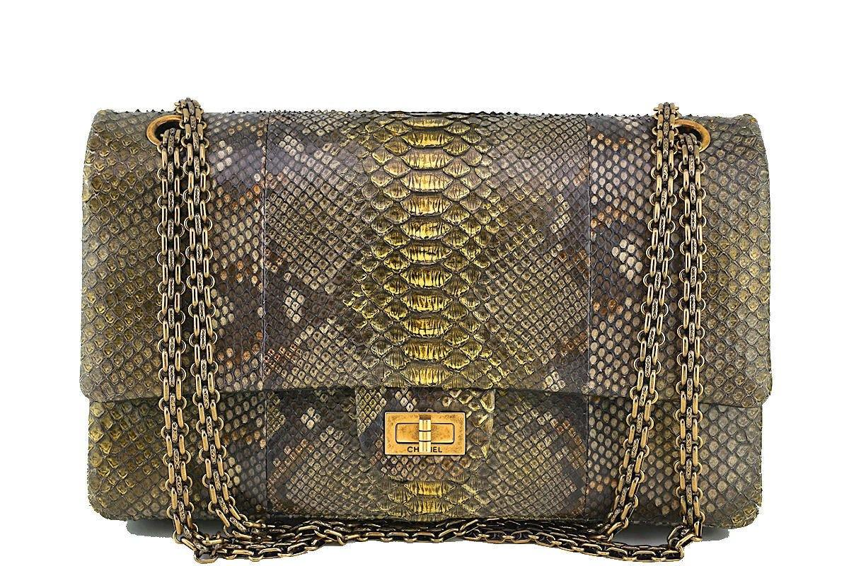 Chanel Limited Gold Python 226 Classic Reissue 2.55 Flap Bag - Boutique Patina  - 1
