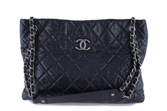 Chanel Black Classic Quilted Shopper Tote Bag - Boutique Patina  - 12