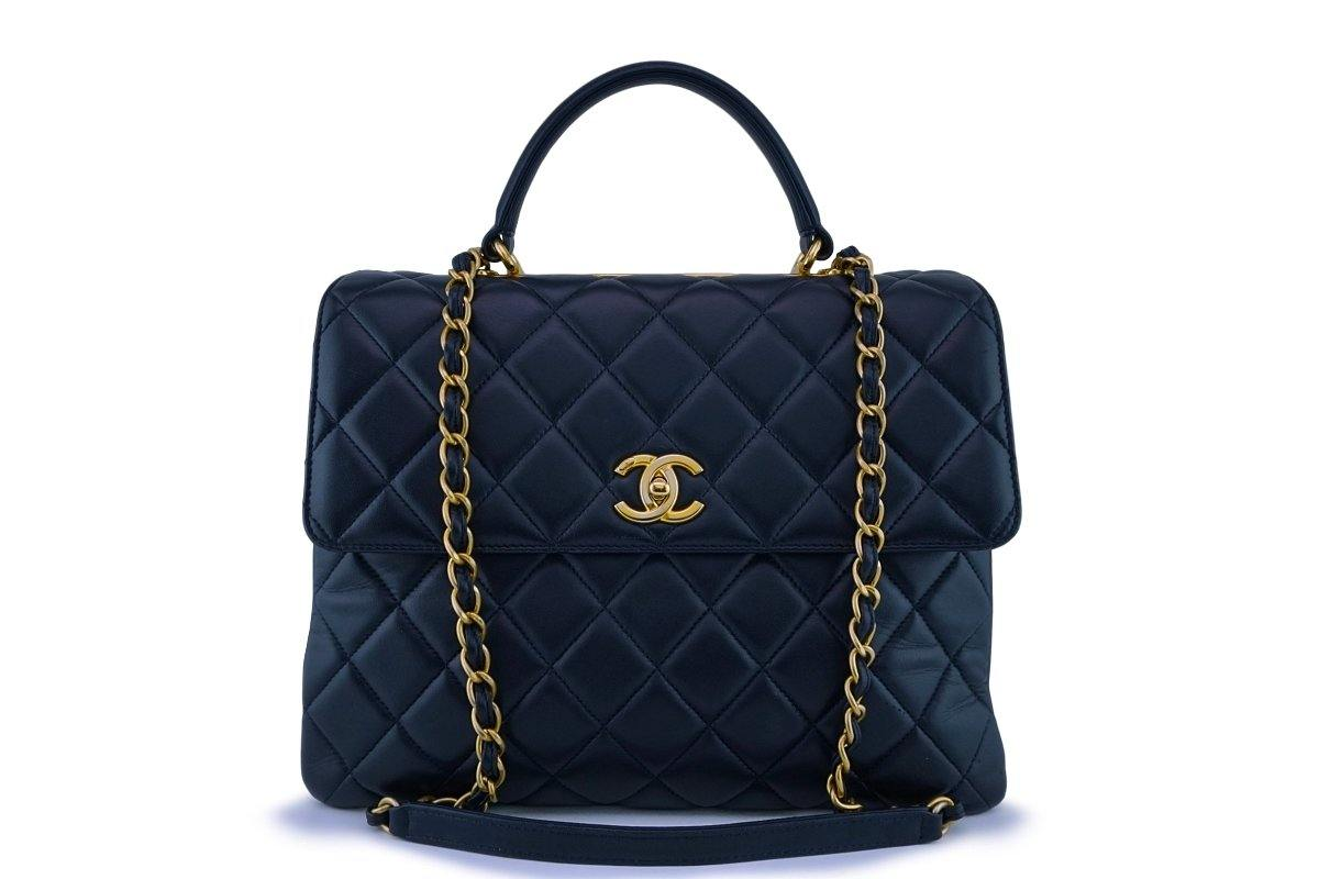 Chanel Navy Blue Large Trendy CC Classic Flap-Tote Bag