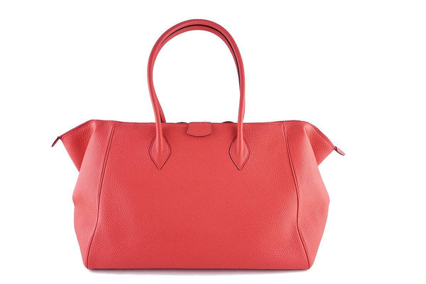 Hermes Rouge Pivoine 37cm Paris Bombay Pink Shoulder Tote Bag