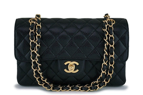Chanel Black Caviar Small Classic Double Flap Bag GHW