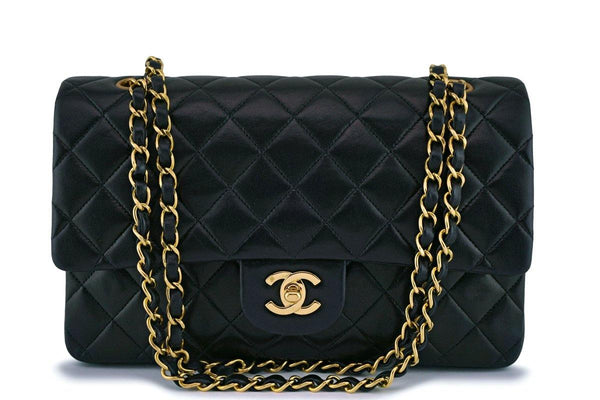 Chanel Black Lambskin Classic Double Flap Bag 24k GHW