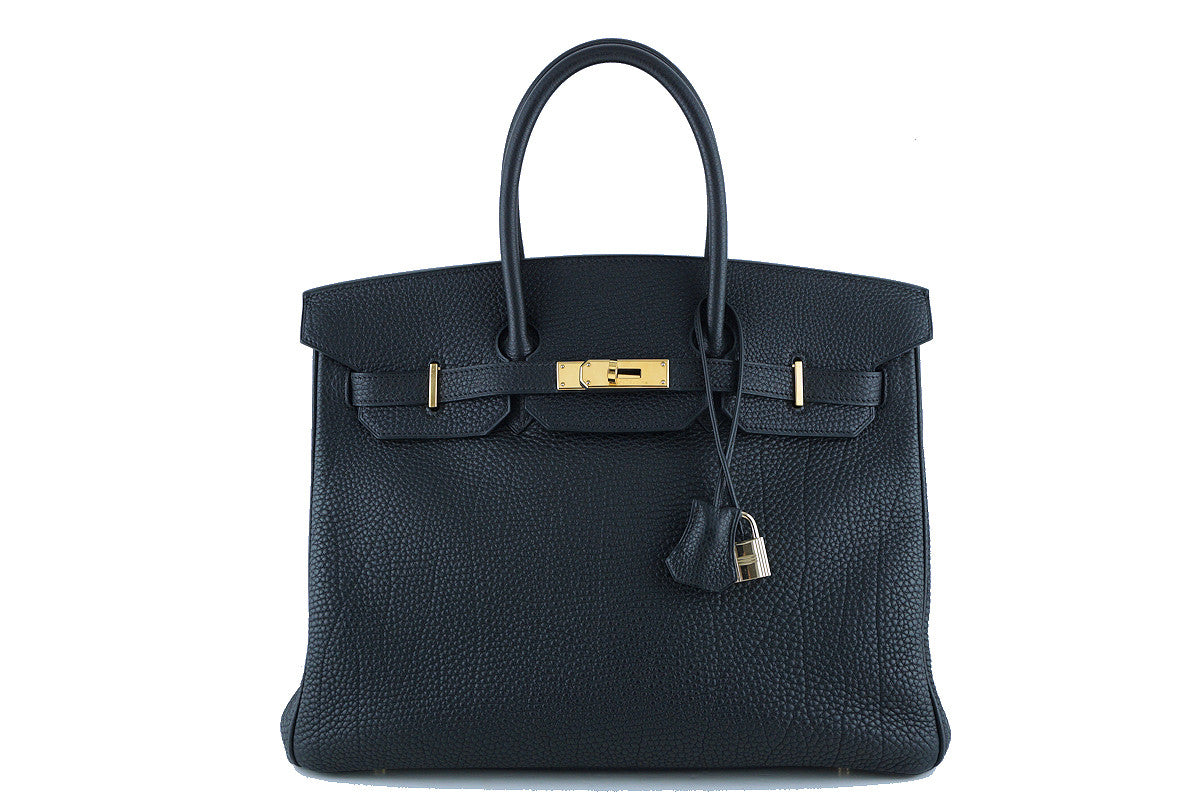 Hermes 35cm Birkin Bag in Black Togo, GHW