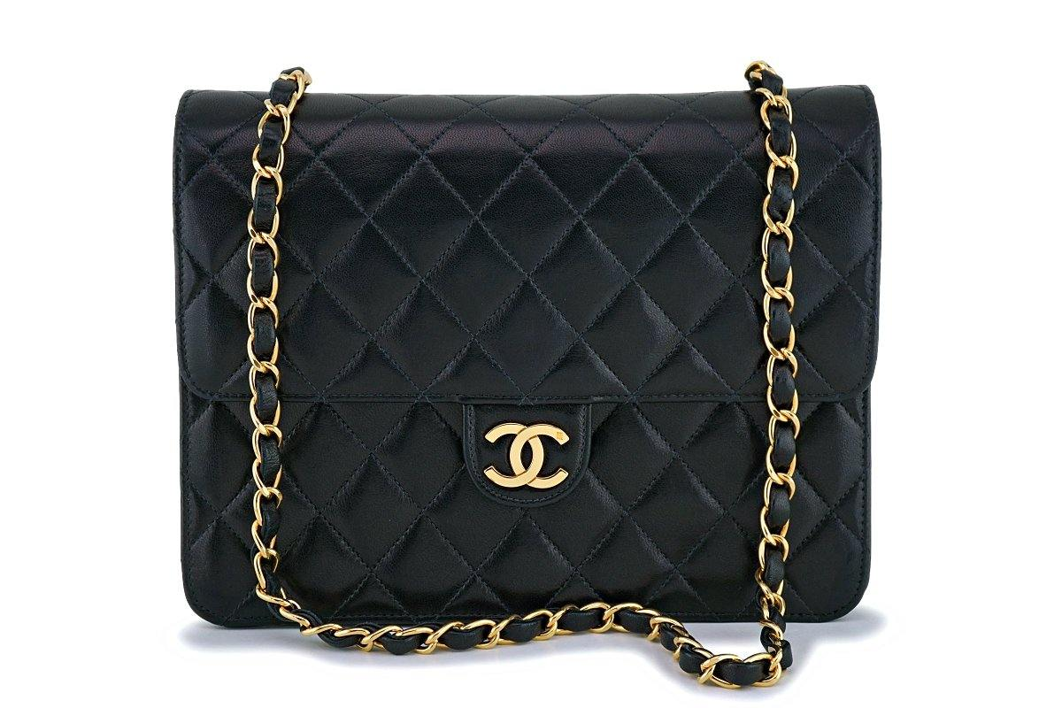 Chanel Vintage Black Timeless Convertible Clutch Classic Shoulder Flap Bag 24k GHW