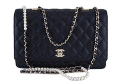 Chanel Black Limited Fantasy Pearls Classic Flap Evening Bag