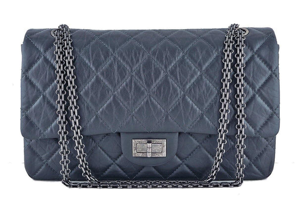 Chanel Charcoal Gray 12in. 227 Reissue 2.55 Jumbo Classic Double Flap Bag
