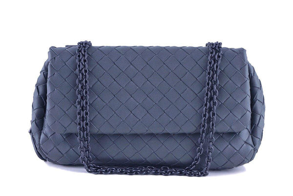Bottega Veneta Gray Messenger Woven Cross Body Bag