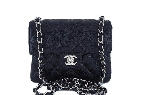 1a12536fdc1b Chanel Black Caviar Classic Quilted Square Mini 2.55 Flap Bag, SHW