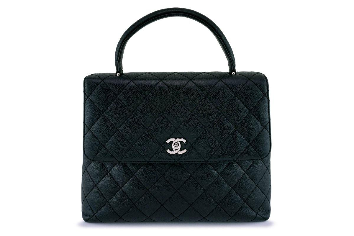 Chanel Black Caviar Classic Kelly Flap Bag SHW