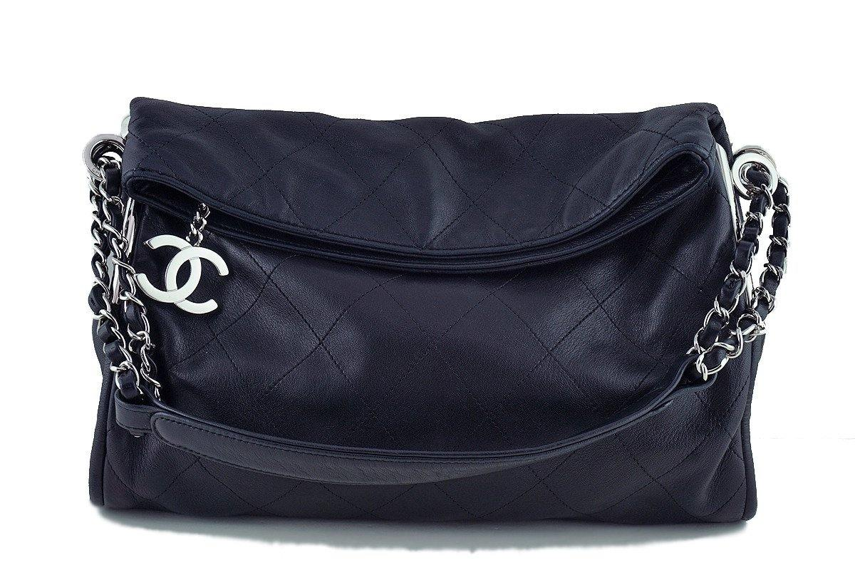 Chanel Black Lambskin Quilted Ultimate Soft Flap  Bag