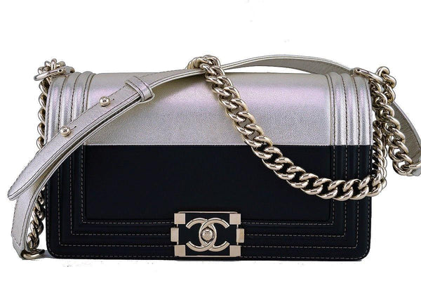 Chanel Limited Black/Gold Le Boy Classic Flap, Medium Bag